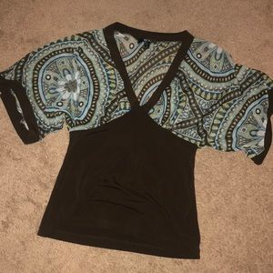 BCX brown top size S